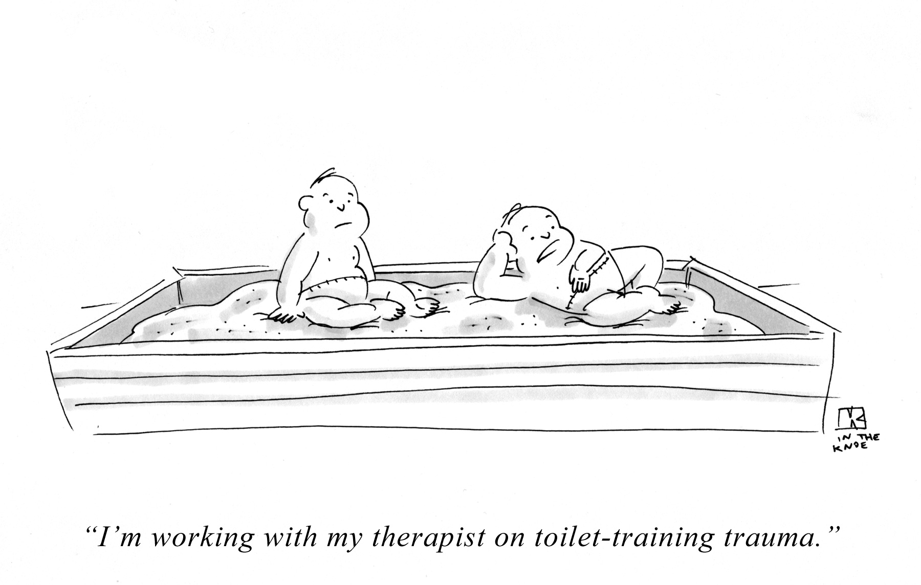 I'm working with my therapist on toilet-training trauma.