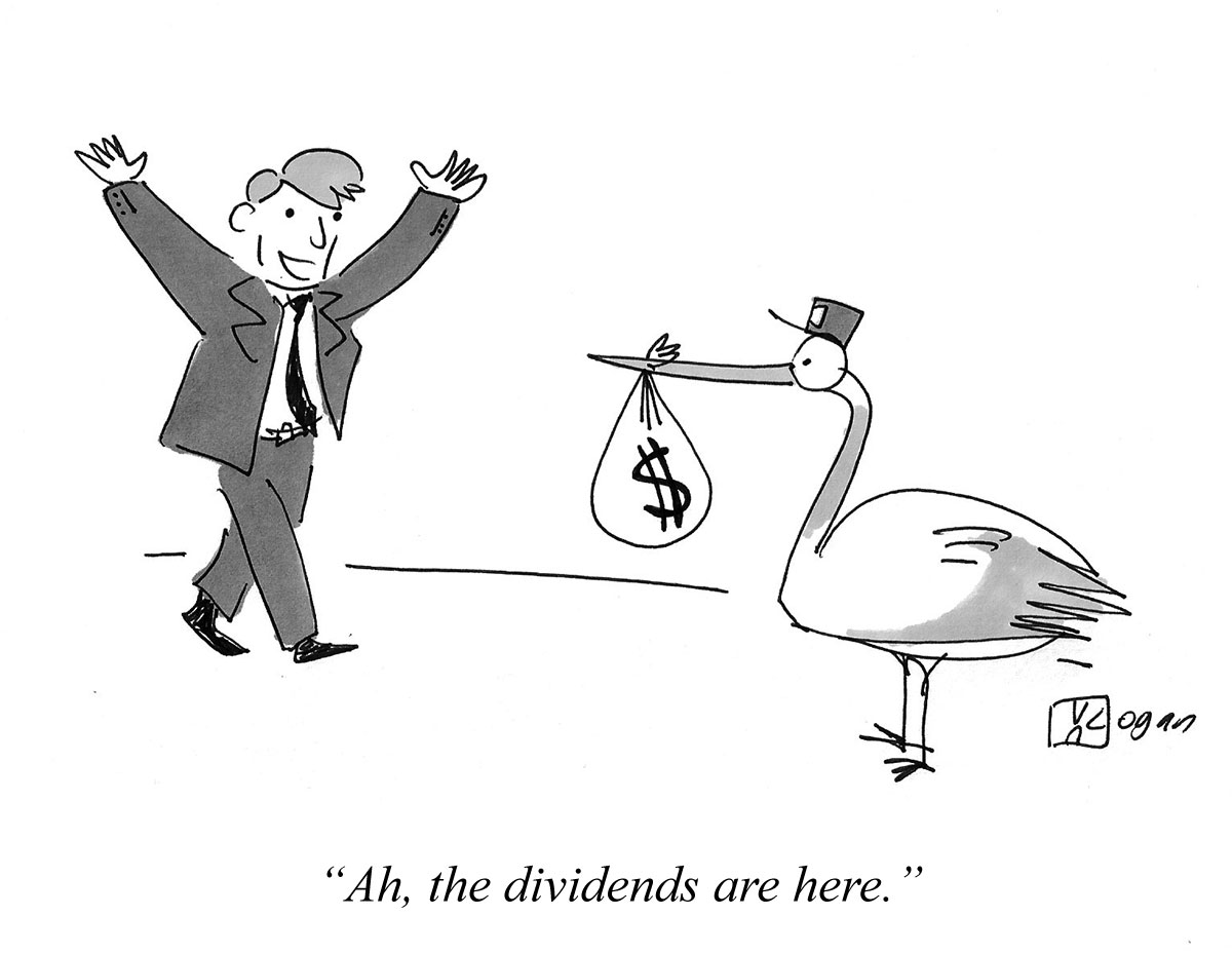 Ah, the dividends are here.